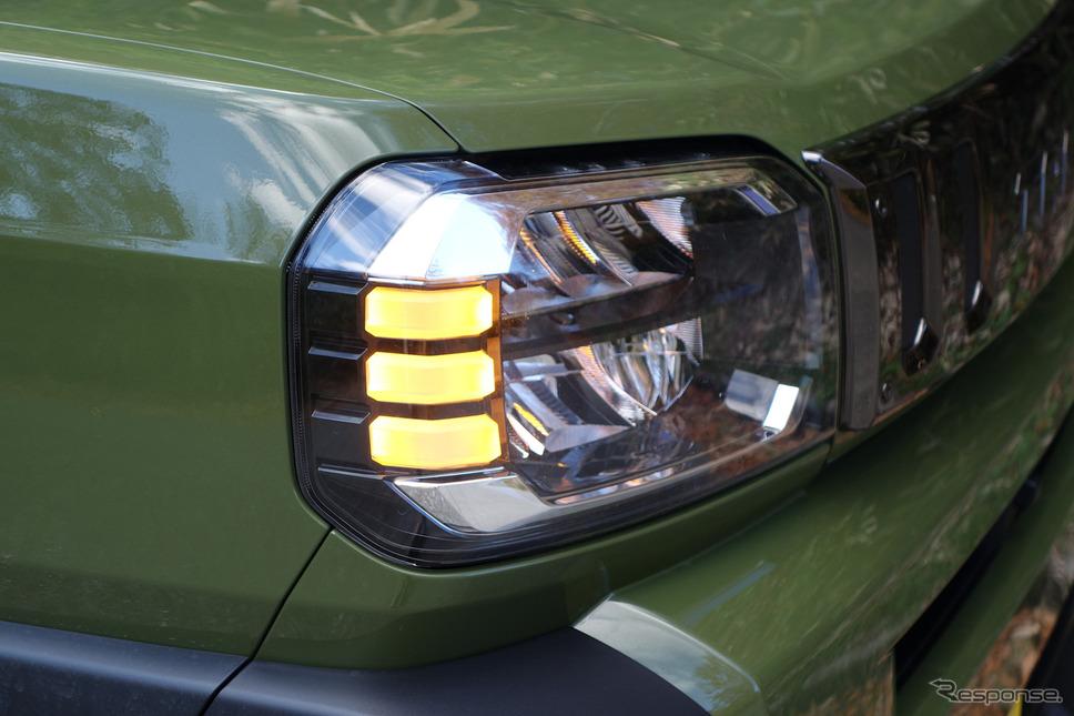 ヘッドランプはアクティブハイビームつき。どこまで進化するのか軽自動車という感じであった。《写真撮影 井元康一郎》