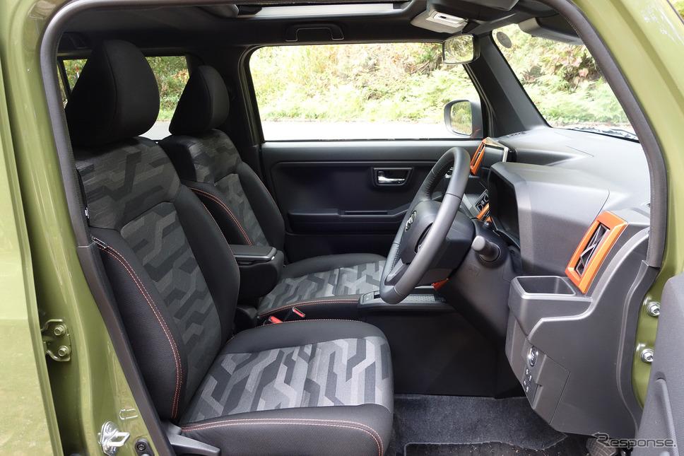 前席はスペースに不満なし。運転席はハイトアジャスター付き。《写真撮影 井元康一郎》