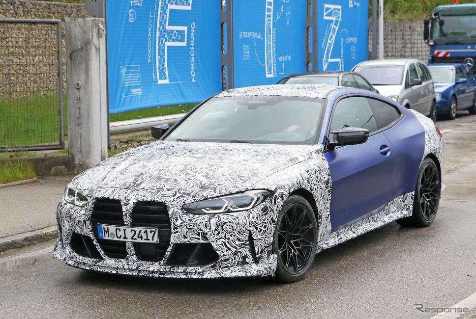 BMW M4クーペをベースとしたプロトタイプ(スクープ写真)《APOLLO NEWS SERVICE》