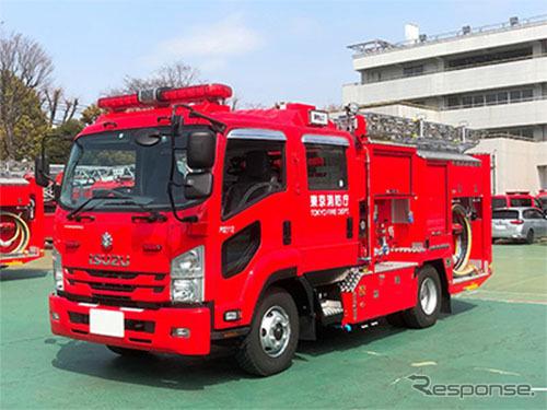 スマートポンプ消防車《写真提供 いすゞ自動車》