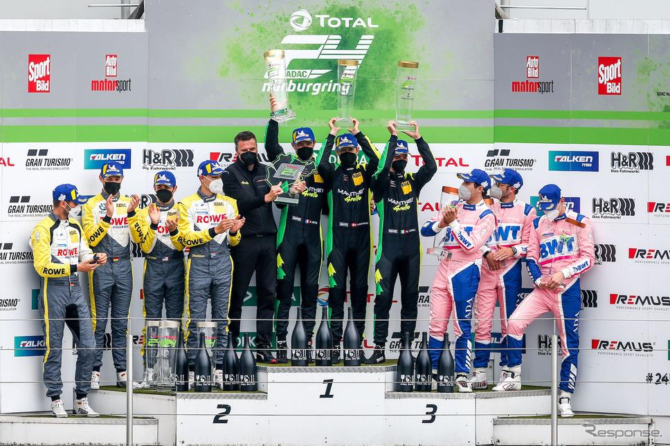 ニュルブルクリンク24時間耐久レース:表彰台《photo by ADAC Nordrhein》