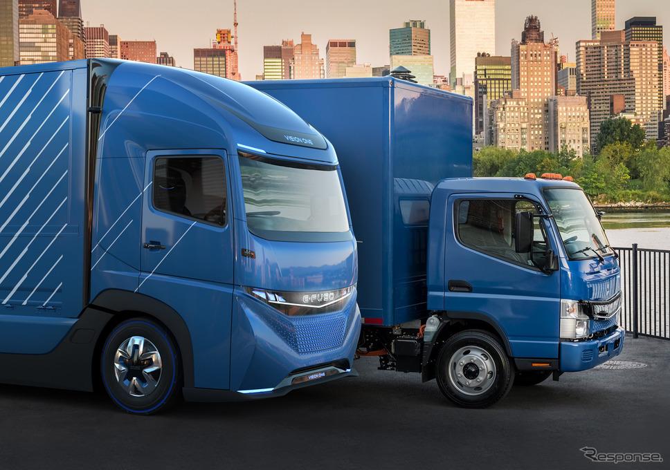 三菱ふそう VISION ONEとeキャンター《写真提供 三菱ふそうトラック・バス》