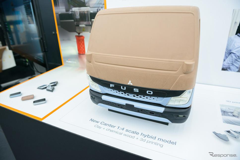 三菱ふそう キャンターの4分の1モデル《写真提供 三菱ふそうトラック・バス》
