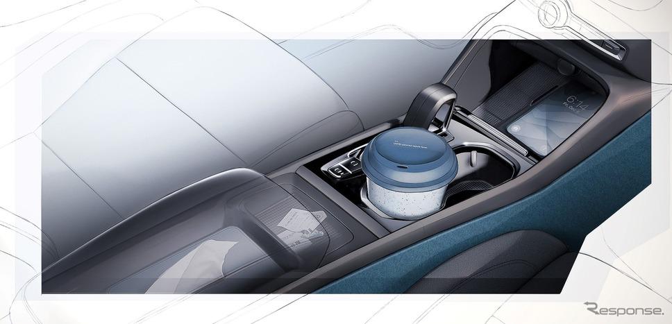 ボルボ C40 リチャージ の内装デザインスケッチ《photo by Volvo Cars》