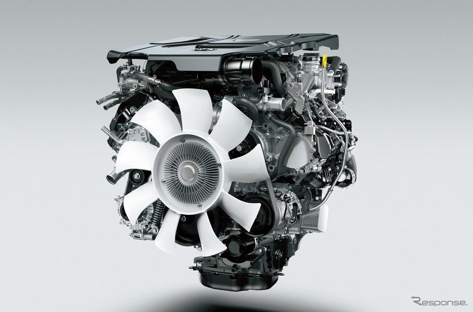 トヨタ ランドクルーザー 新型のV6ディーゼル ツインターボエンジン《写真提供 トヨタ自動車》