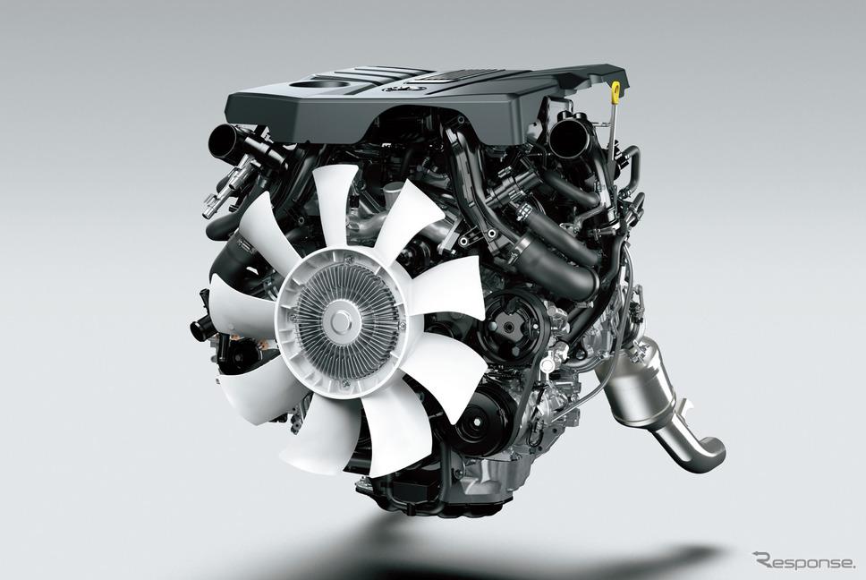 トヨタ ランドクルーザー 新型のV6ガソリン ツインターボエンジン《写真提供 トヨタ自動車》