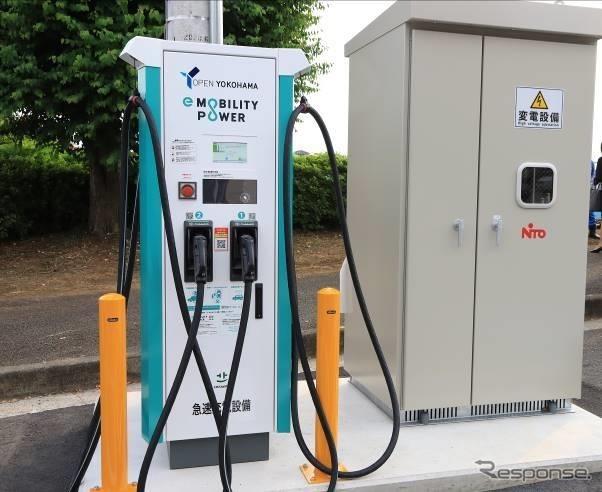 EV用充電器《写真提供e-Mobility Power》