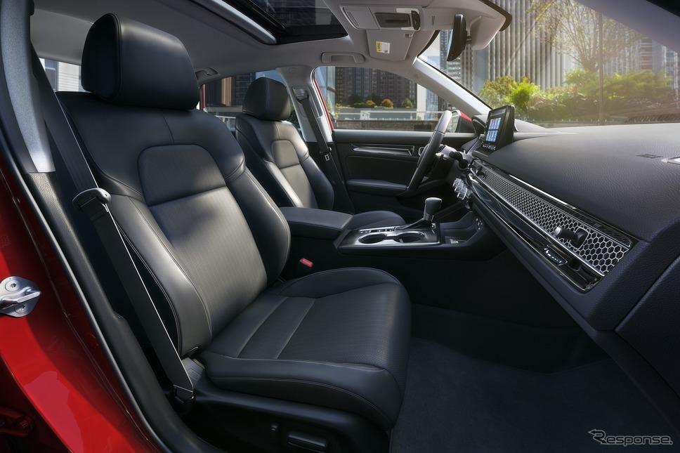 米国で発表されたホンダ・シビックセダン新型《photo by Honda》