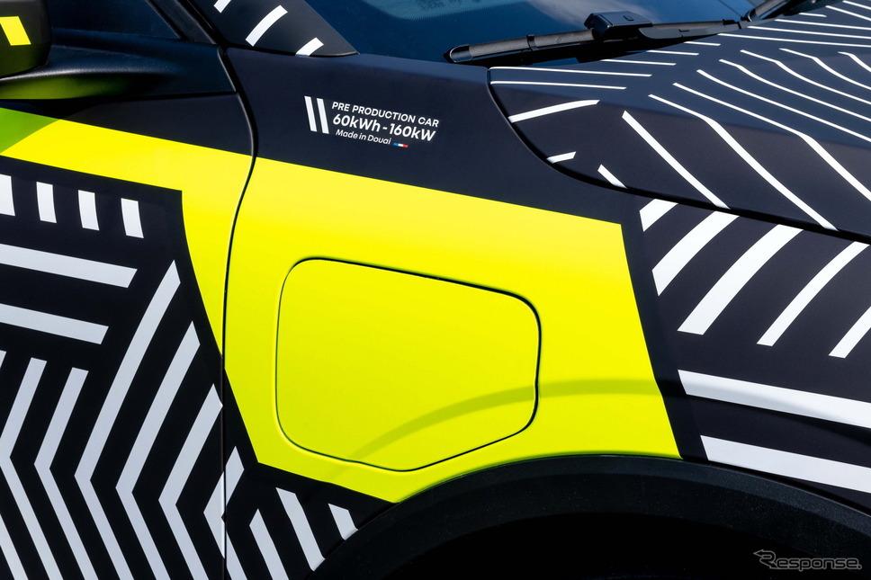 ルノー・メガーヌ E-TECH エレクトリック のプロトタイプ《photo by Renault》
