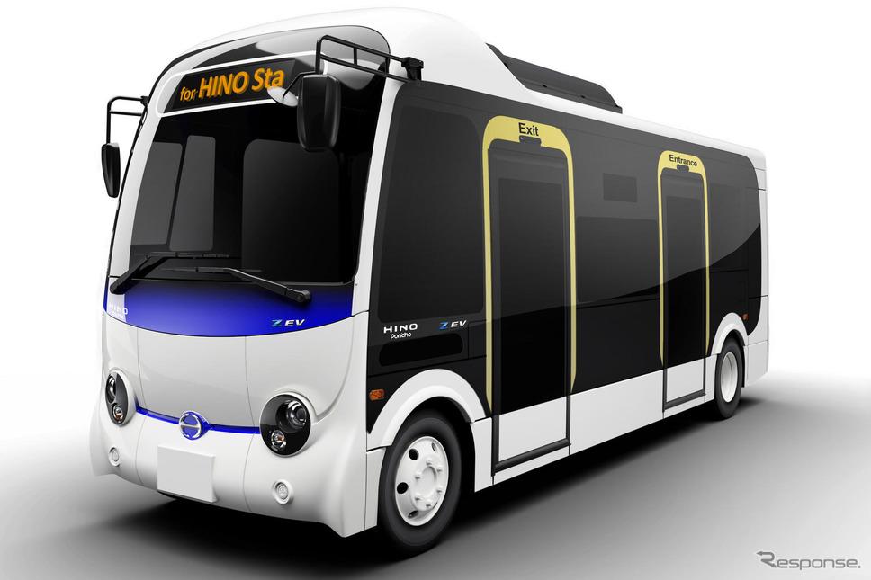 2022年春に市場投入する予定の小型電気バス、ポンチョZ EV《写真提供 日野自動車》