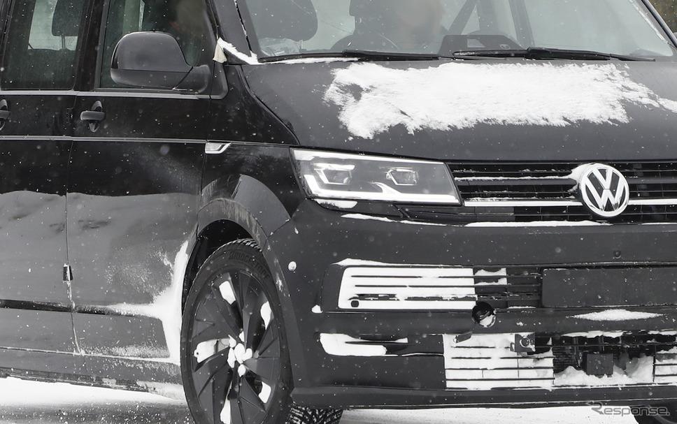 VW ID.BUZZ 市販型プロトタイプ(スクープ写真)《APOLLO NEWS SERVICE》