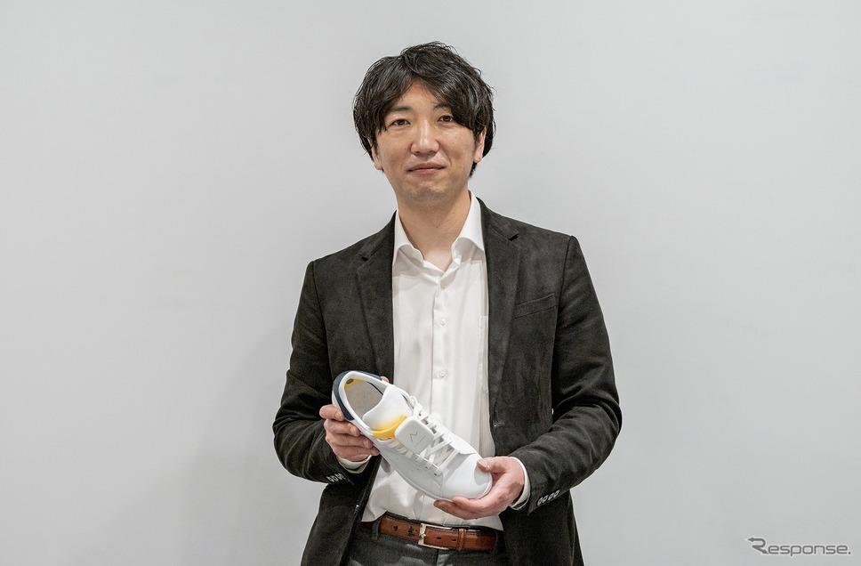 Ashirase 千野 歩代表取締役と「あしらせ」《写真提供 本田技研工業》