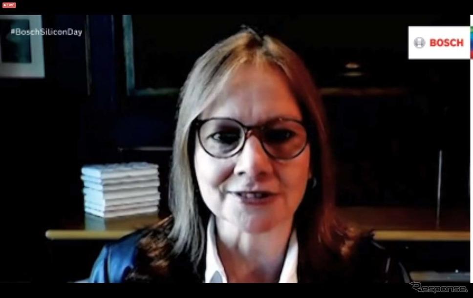 祝福のビデオメッセージを送ったゼネラルモーターズのメアリー・バーラCEO