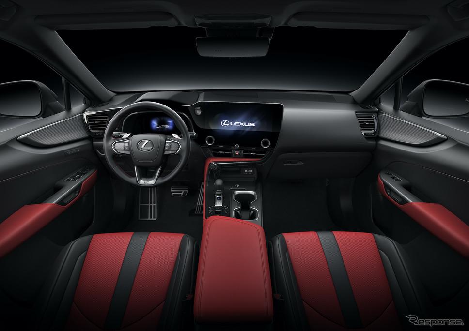 レクサスNX新型(プロトタイプ):F SPORT専用色、フレアレッド《写真提供 トヨタ自動車》