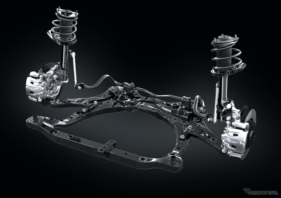 レクサスNX新型(プロトタイプ):F SPORTには最新AVSを標準装備《写真提供 トヨタ自動車》