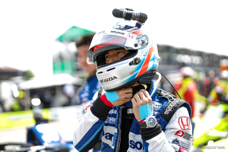#30 佐藤琢磨は第7戦で4位に。《Photo by INDYCAR》