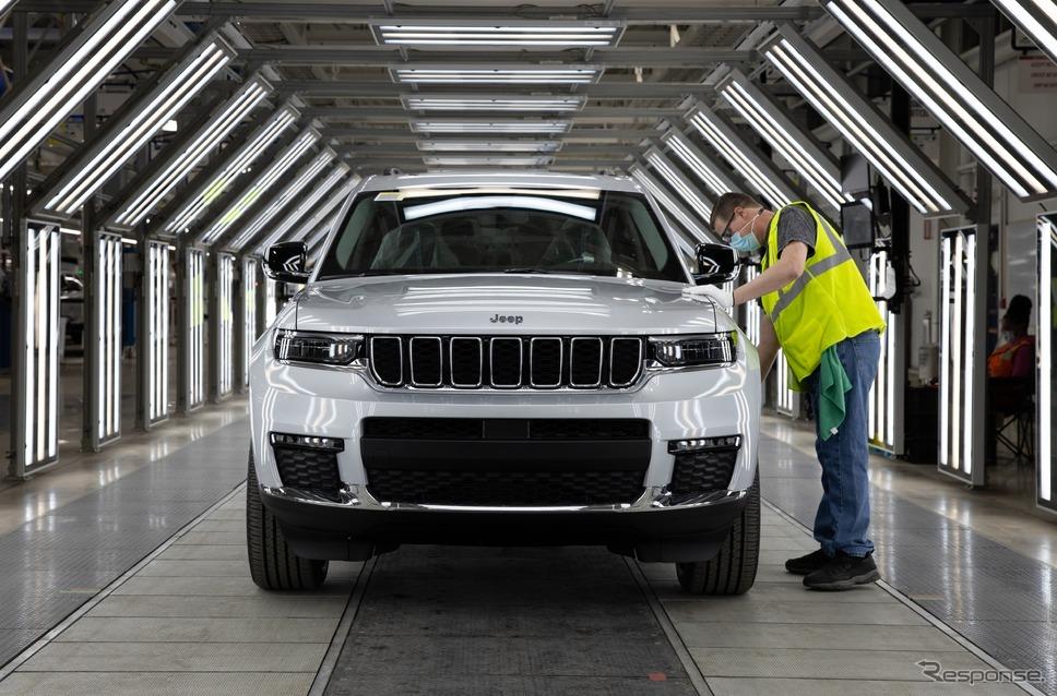 米国ミシガン州デトロイトの新工場で生産を開始したジープ・グランドチェロキー L 新型《photo by Jeep》