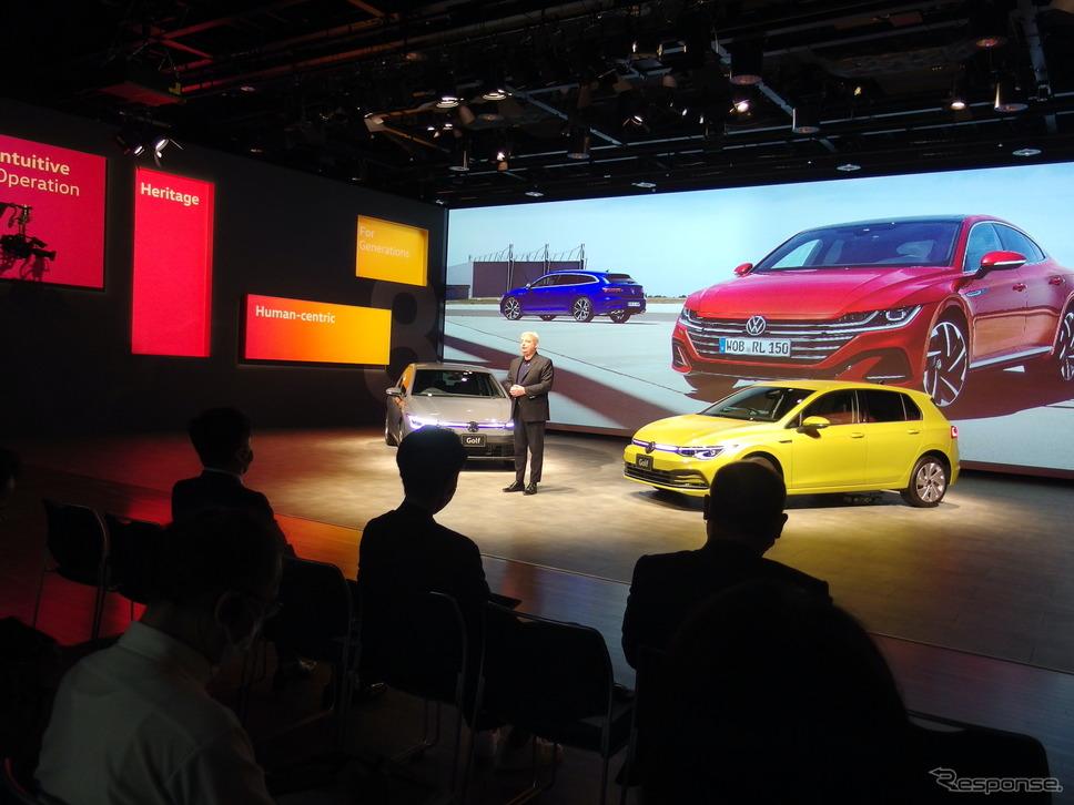 VW ゴルフ 新型発表会《写真撮影 高木啓》