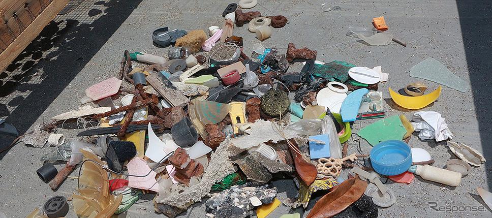 プラスチック系のゴミ《写真提供 本田技研工業》