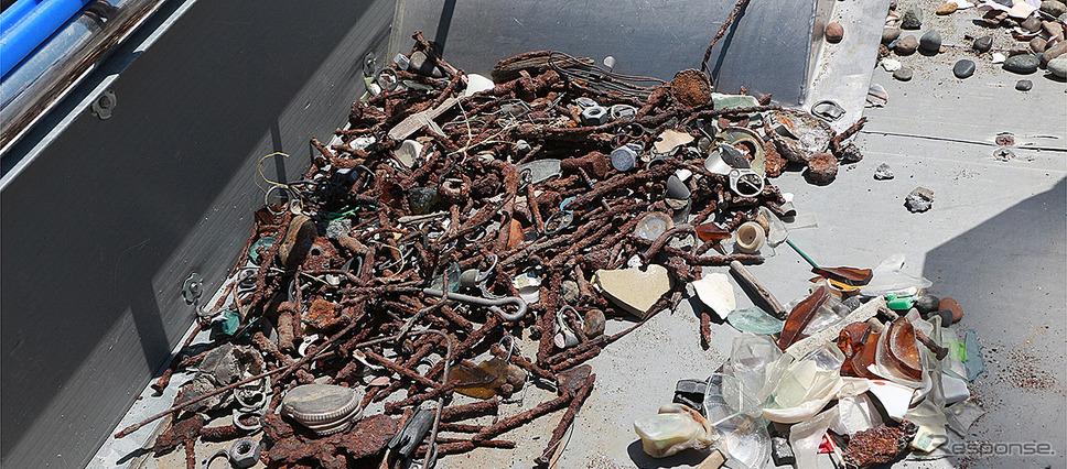 釘やネジ等の金属系のゴミ《写真提供 本田技研工業》