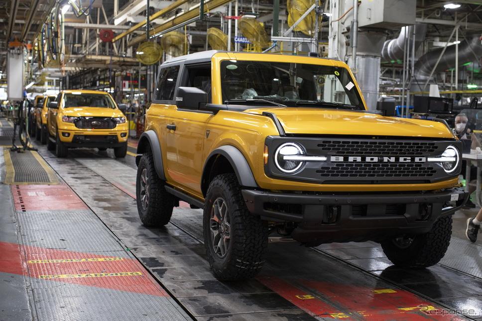 フォードモーターの米国ミシガン工場で生産を開始したフォード・ブロンコ 新型《photo by Ford Motor》
