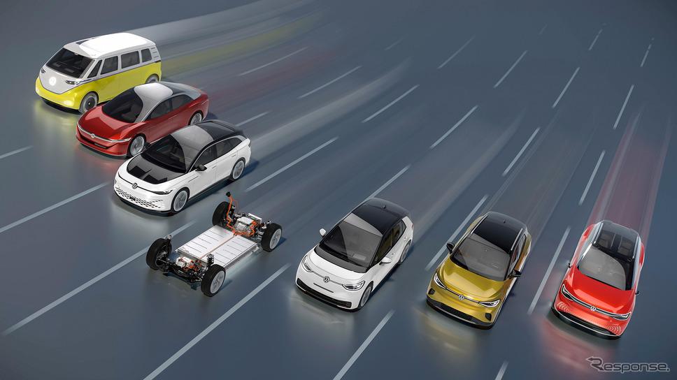 VWの電動車ブランド「ID.」ファミリー《Photo by Volkswagen》