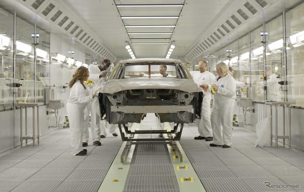 ボルボカーズの現在の工場の生産ライン《photo by Volvo Cars》