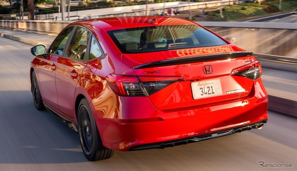ホンダ・シビック・セダン 新型の「スポーツ」《photo by Honda》