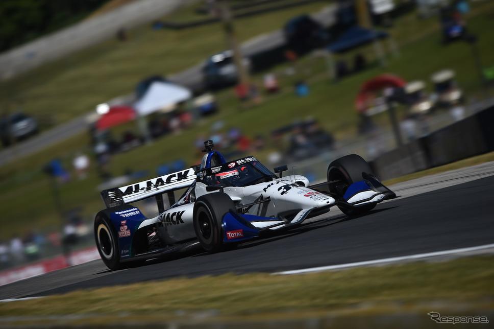#30 佐藤琢磨は決勝8位(写真はレースウイーク金曜の走行)。《Photo by INDYCAR》