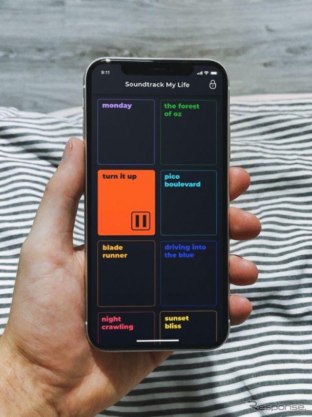 ポルシェの「サウンドトラックマイライフ」のスマホ版アプリ《photo by Porsche》