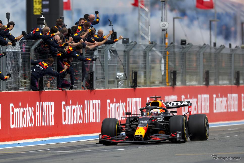 フェルスタッペン(レッドブル・ホンダ)がF1フランスGPで優勝《写真提供 ホンダ》