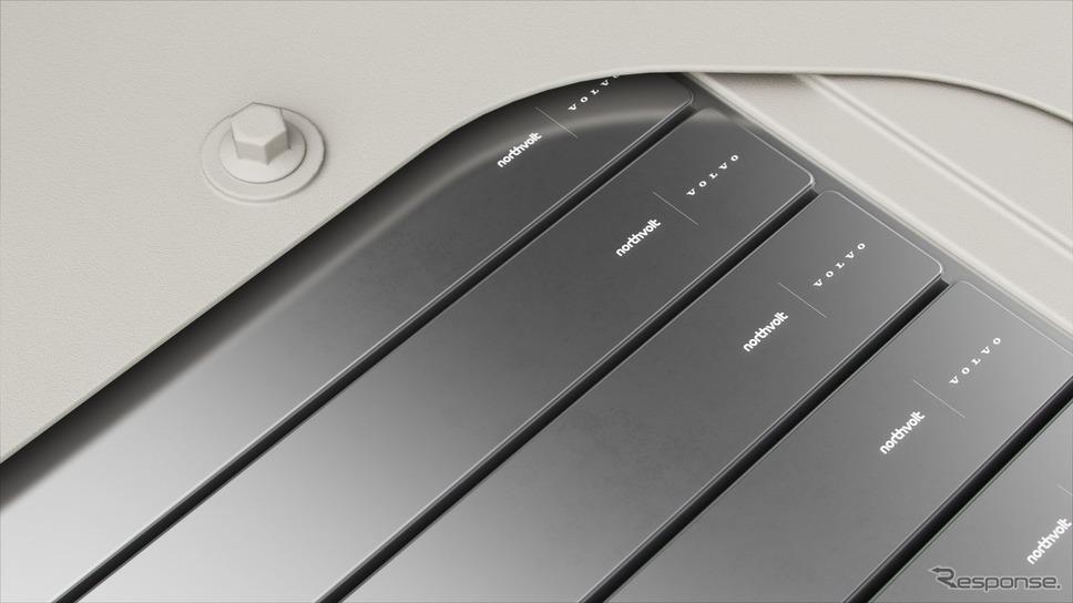 ボルボカーグループとノースボルトが共同開発する次世代のEV向けバッテリーのイメージ《photo by Volvo Cars》