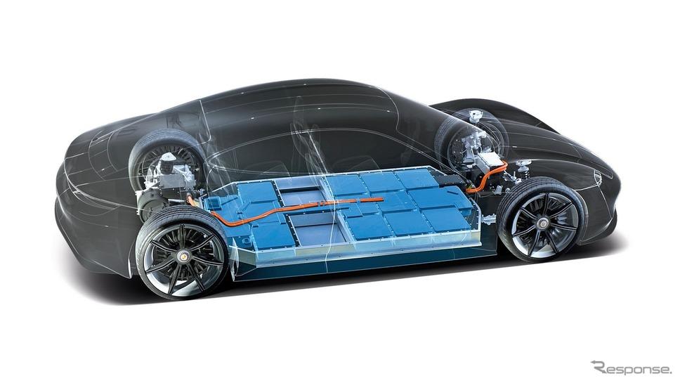 ポルシェ・タイカン のバッテリー《photo by Porsche》