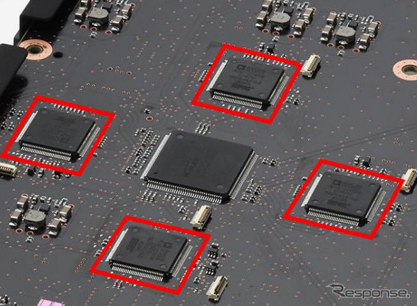 最高峰デジタルサウンドプロセッサーDSP「Griffin UL」を通常の2倍の4基搭載《写真提供 アルプスアルパイン》