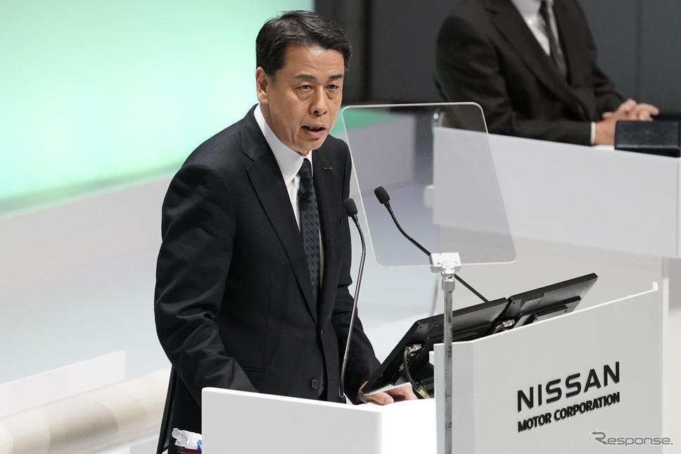 日産自動車の内田社長、第122回定時株主総会《写真提供 日産自動車》
