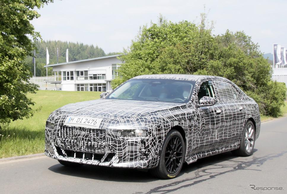 BMW 7シリーズ 次期型プロトタイプ(スクープ写真)《APOLLO NEWS SERVICE》