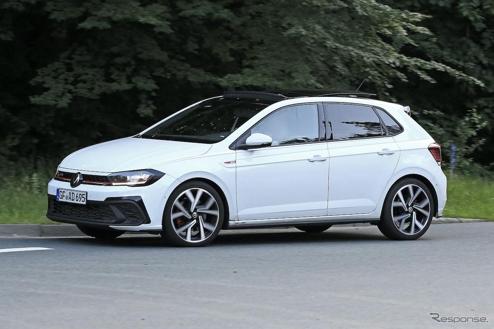 VW ポロ GTI 改良新型 プロトタイプ(スクープ写真)《APOLLO NEWS SERVICE》
