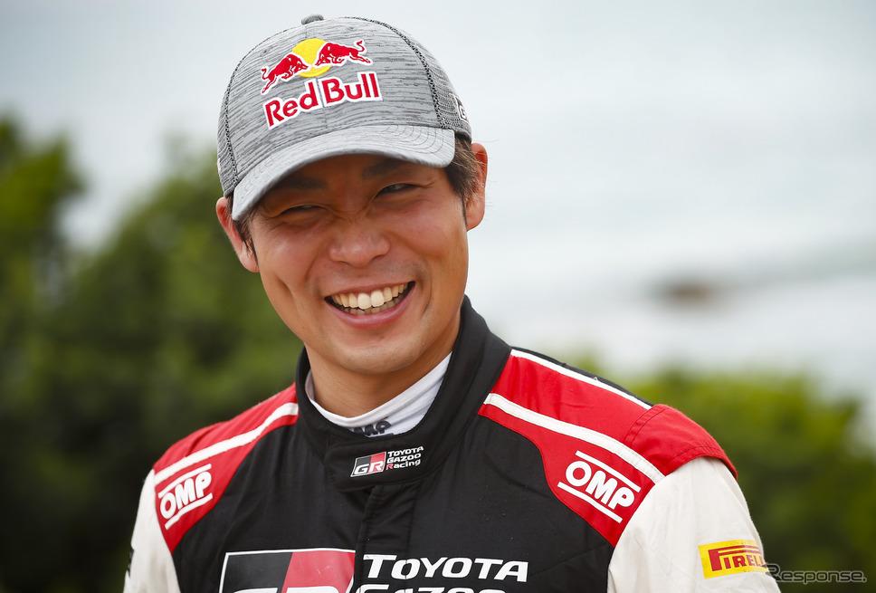 WRC第6戦サファリで、自身初表彰台となる総合2位でゴールした#18 勝田貴元(写真は前戦サルディニア)。《Photo by TOYOTA》