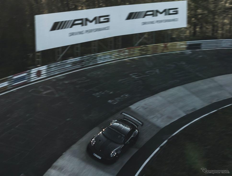 ポルシェ 911 GT2 RS のドイツ・ニュルブルクリンク北コースでのタイムアタック《photo by Porsche》