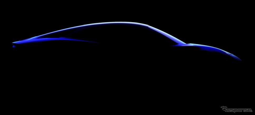 アルピーヌ A110 の後継EVと見られるティザーイメージ《photo by Renault》
