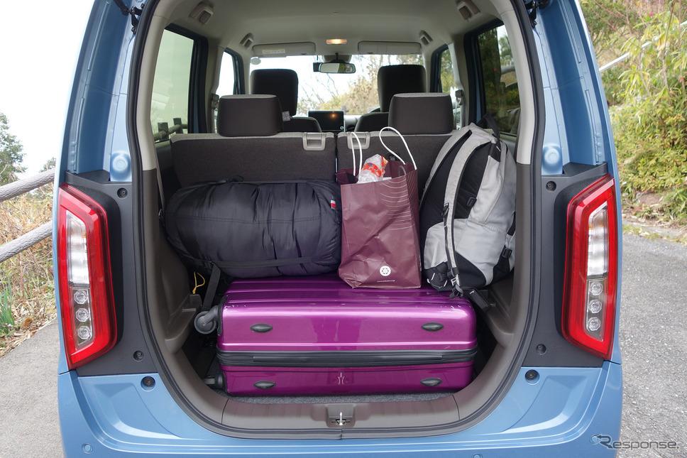 荷物の積載力は文句なしに素晴らしかった。《写真撮影 井元康一郎》