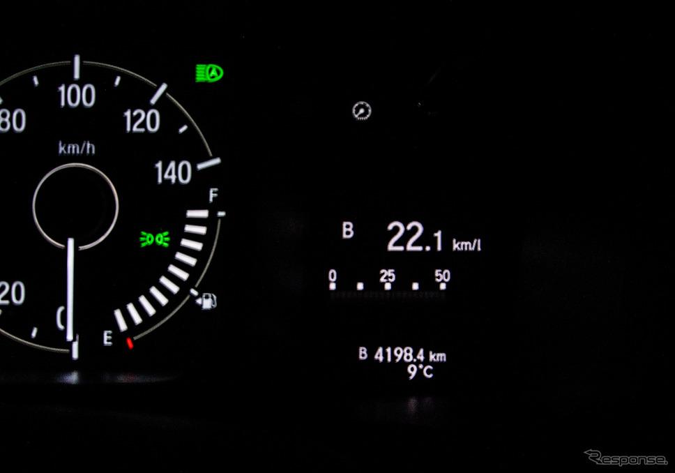 総走行距離4198.4kmの旅。平均燃費計値は燃費を落とした鹿児島エリアを含むもので、実測値とほぼ同じであった。《写真撮影 井元康一郎》