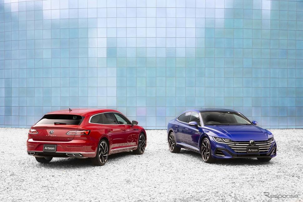 VW アルテオン シューティングブレーク(左)/アルテオン(右)《写真提供 フォルクスワーゲン グループ ジャパン》