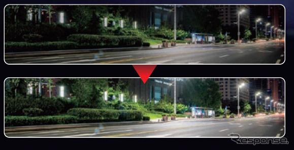 夜間映像イメージ《写真提供 JVCケンウッド》