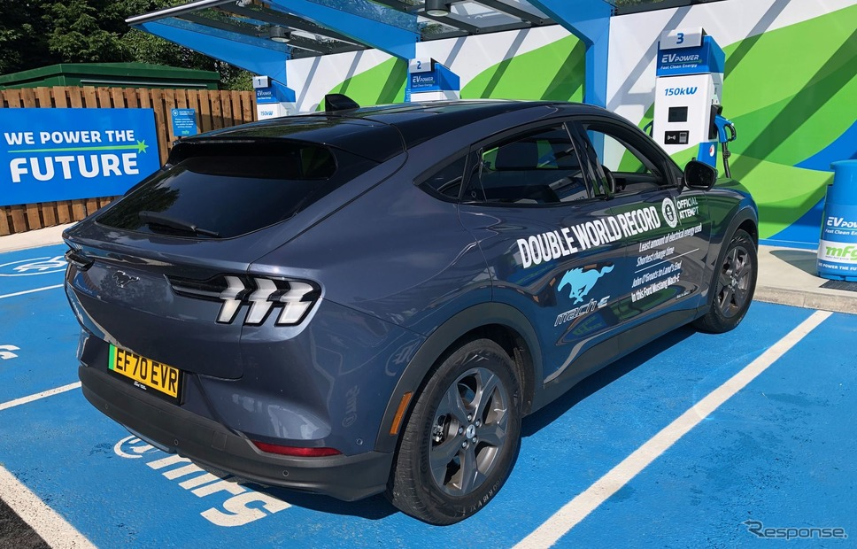 フォード・マスタング・マッハE のギネスチャレンジ《photo by Ford Motor》