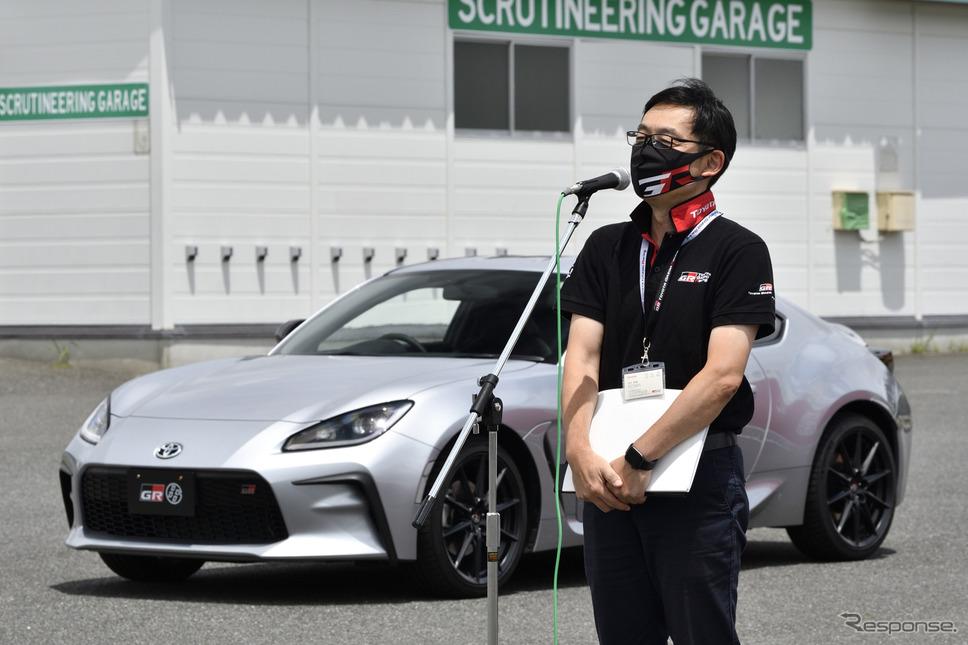 トヨタGAZOO Racing Company GRプロジェクト推進部 GRZ チーフエンジニアの末沢泰謙氏《写真撮影 雪岡直樹》