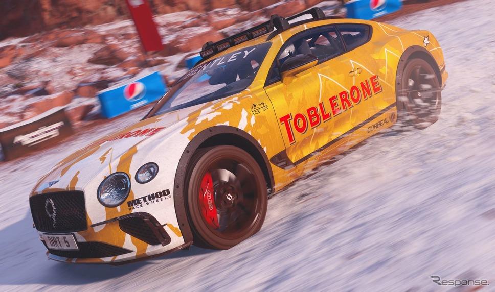 『DIRT 5』の「スーパーサイズコンテンツパック」に収録されるベントレー・コンチネンタル GT のアイスレースカー《photo by Bentley》