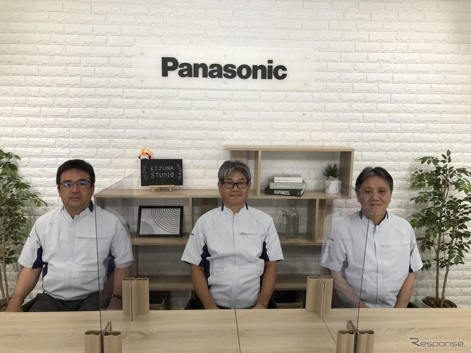 パナソニック  アプライアンス社 ビューティ・パーソナルケア事業部 デバイス商品部(左から)中田隆行主幹、中村浩二部長、山下幹弘主幹《写真 パナソニック提供》