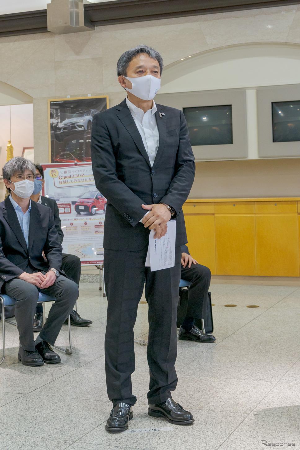 株式会社アットヨコハマ取締役・東昭人氏。《写真撮影 関口敬文》