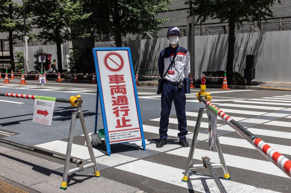 東京2020を控え通行止めとなっている会場周辺道路Photo by Carl Court/Getty Images News/ゲッティイメージズ